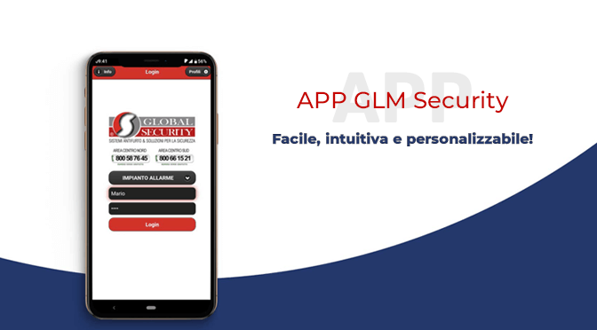 L'app GLM Security per la gestione allarme da remoto